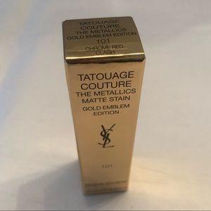 YSL Tatouage Couture metallic matte, CHROME RED